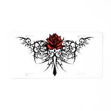 rose1 Aluminum License Plate