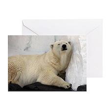 Polar Bear looking sleepy 2 Greeting Card