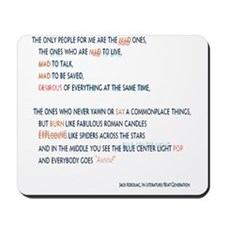 Kerouac - the mad ones copy Mousepad