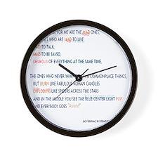 Kerouac - the mad ones copy Wall Clock