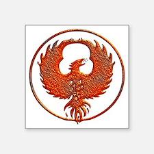"phoenix Square Sticker 3"" x 3"""
