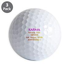 KarmaMeansXXX Golf Ball