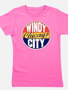 Chicago Vintage Label B Girl's Tee