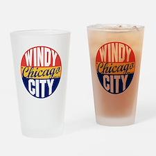 Chicago Vintage Label B Drinking Glass