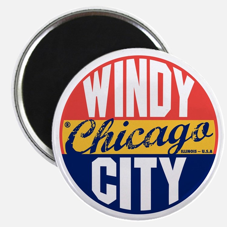Chicago Vintage Label B Magnet