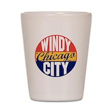 Chicago Vintage Label B Shot Glass