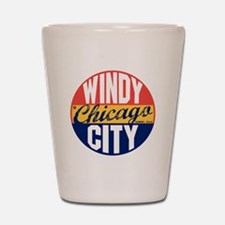 Chicago Vintage Label B Shot Glass