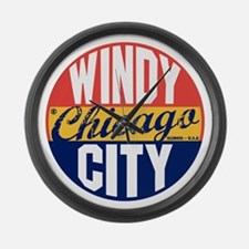 Chicago Vintage Label B Large Wall Clock