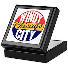 Chicago Vintage Label B Keepsake Box