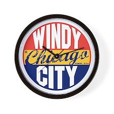 Chicago Vintage Label B Wall Clock