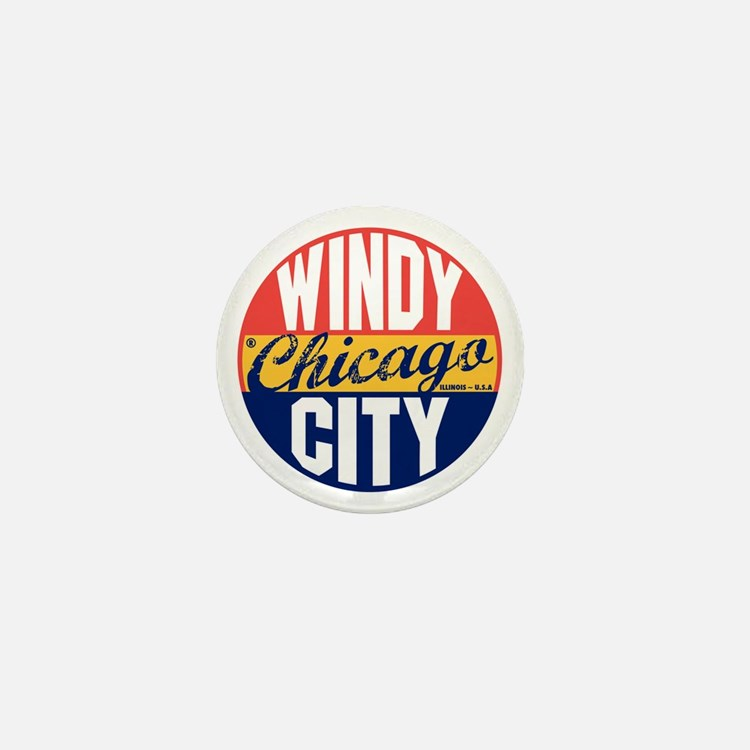 Chicago Vintage Label B Mini Button