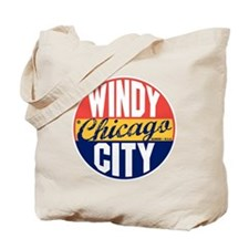Chicago Vintage Label B Tote Bag