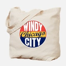 Chicago Vintage Label B Tote Bag