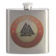 valknutr shield Flask
