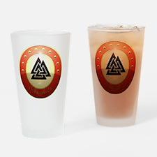 valknutr shield Drinking Glass