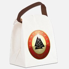 valknutr shield Canvas Lunch Bag