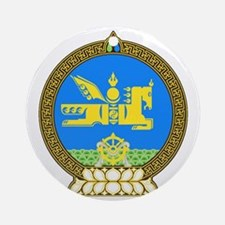 Mongolia Coat of Arms Round Ornament