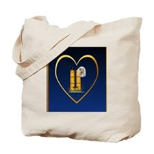 Heart Jewel Gold Twin Towers can Eagle Tote Bag