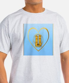 Heart Jewel Gold Twin Towers-lettere T-Shirt