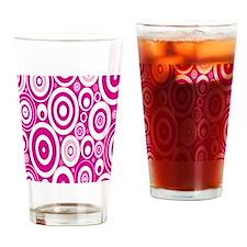 Retro Circles Drinking Glass