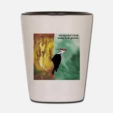 Woodpecker Haiku Shot Glass