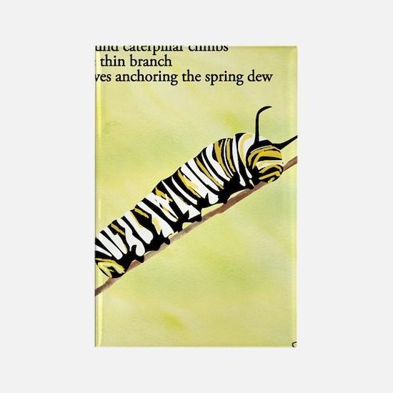 Caterpillar Haiku Rectangle Magnet