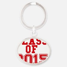 class of 2015-page1 Oval Keychain