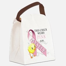 This Chick Wears Pink for Myself Canvas Lunch Bag