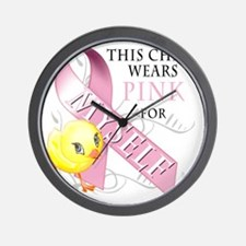 This Chick Wears Pink for Myself Wall Clock