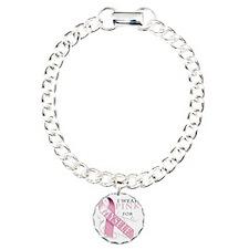 I Wear Pink for Myself Charm Bracelet, One Charm