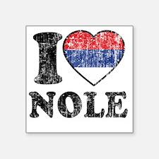 """Nole Grunge -dk Square Sticker 3"""" x 3"""""""