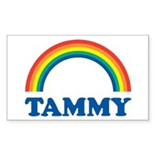 TAMMY (rainbow) Rectangle Decal