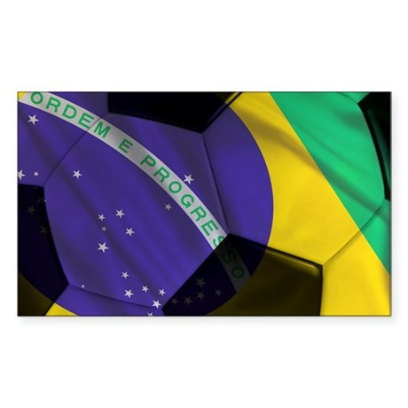 brazil large framed print Sticker (Rectangle)