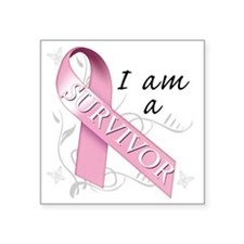 "I Am A Survivor Square Sticker 3"" x 3"""