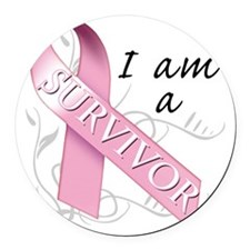 I Am A Survivor Round Car Magnet