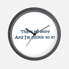 That's My Story Wall Clock