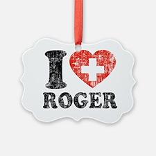 Love Roger Grunge Ornament