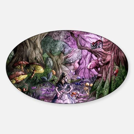 Alice in Wonderland 1 Sticker (Oval)