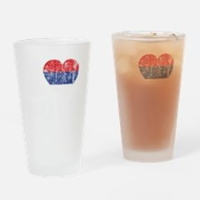 Nole Grunge -dk Drinking Glass
