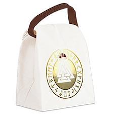 valknut rune shield Canvas Lunch Bag