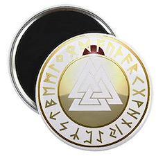 valknut rune shield Magnet