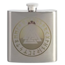 valknut rune shield Flask