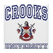 CROOKS University Tile Coaster