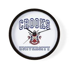 CROOKS University Wall Clock