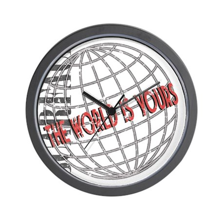 tthe-world-is-yours Wall Clock