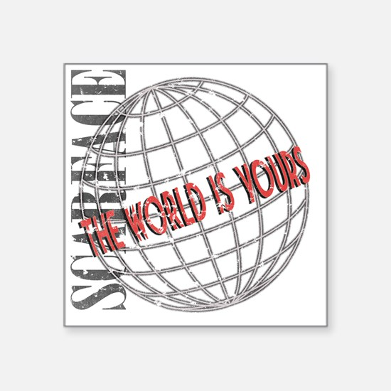 """tthe-world-is-yours Square Sticker 3"""" x 3"""""""
