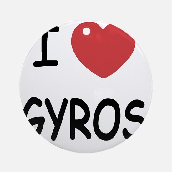 GYROS Round Ornament