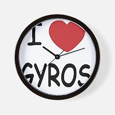 GYROS Wall Clock