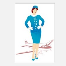 Flight Attendant 1 Postcards (Package of 8)