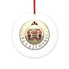 sutton hoo rune shield. Round Ornament